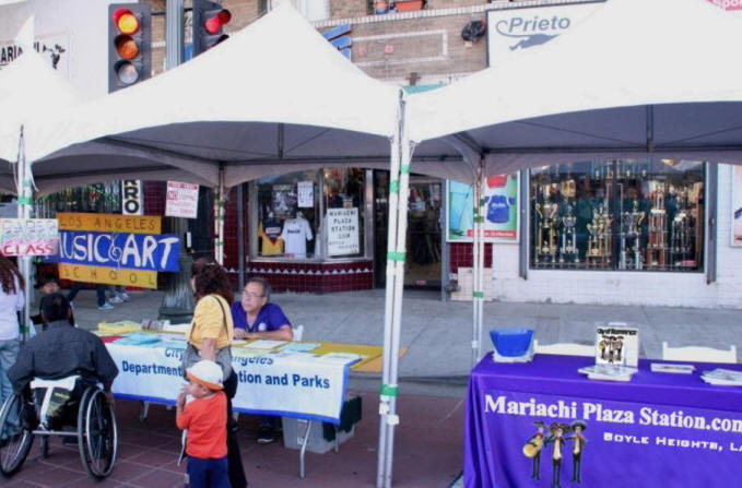 images of Mariachi Plaza Booth at festival